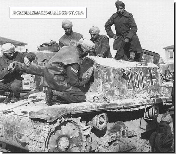 British-Indian-soldiers-examine-a-captured-german-tank